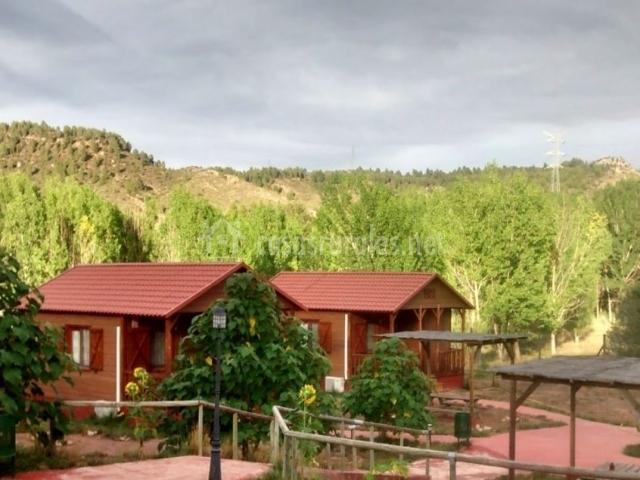 Vistas del acceso a las cabañas
