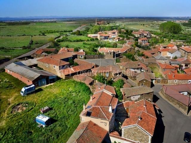 Vista aérea de Santiago Millas