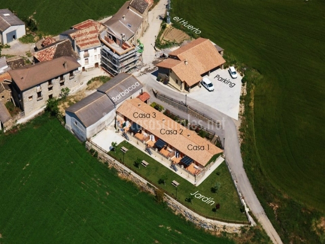 Casa Lueza vista aerea