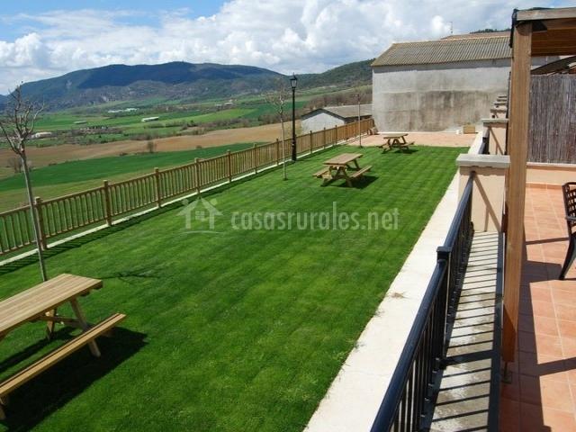 Terraza con vistas al jardín
