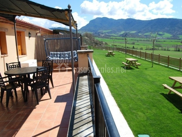 Terraza privada con vistas al jardín