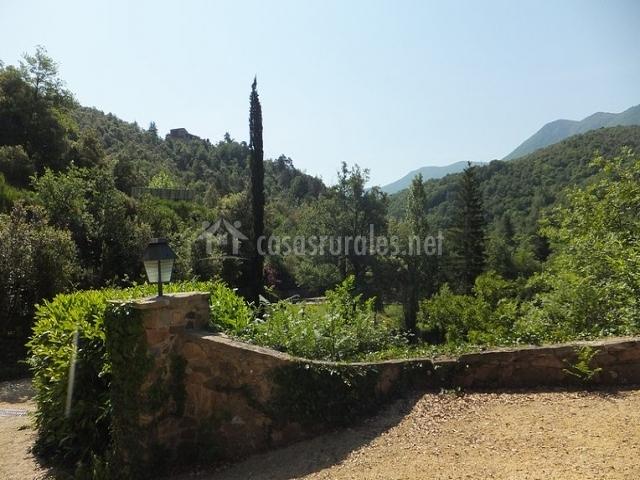 vistas a la comarca de Osana desde la casa rural