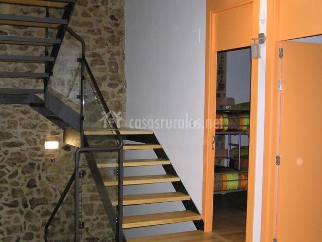 detalle escaleras habitaciones