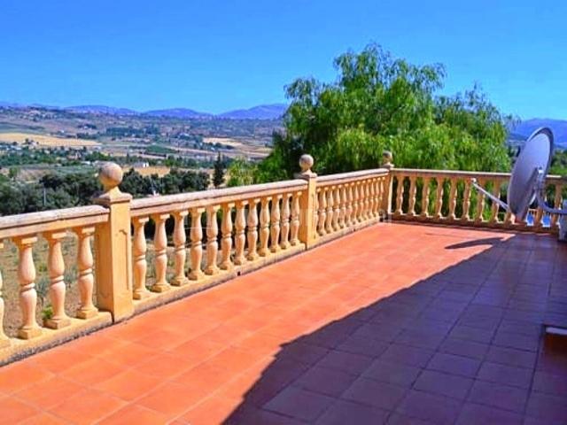 Vista desde la terraza de la casa rural en el piso superior