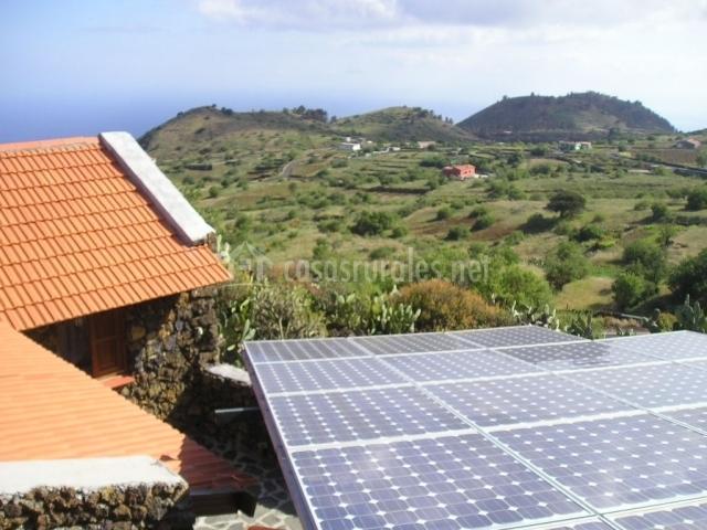 Placas solares de la casa