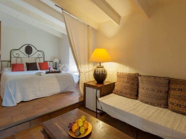 Junior suite con cama de matrimonio