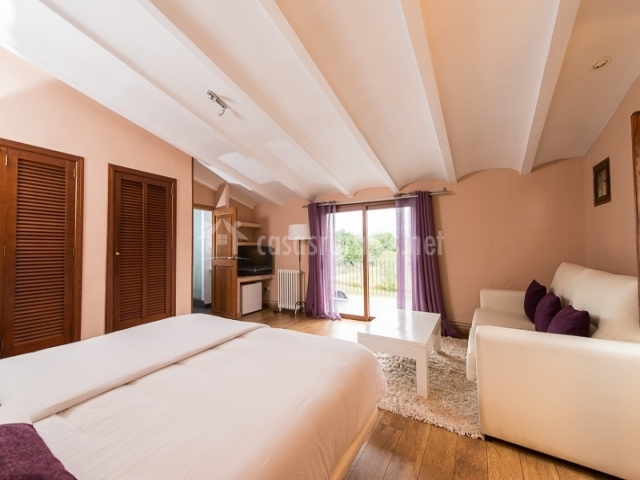Suite especial con televisor y terraza