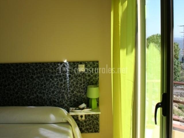 Dormitorio suite en verde