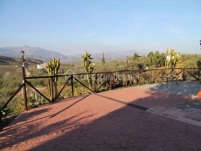 Impresionantes vistas desde el jardín