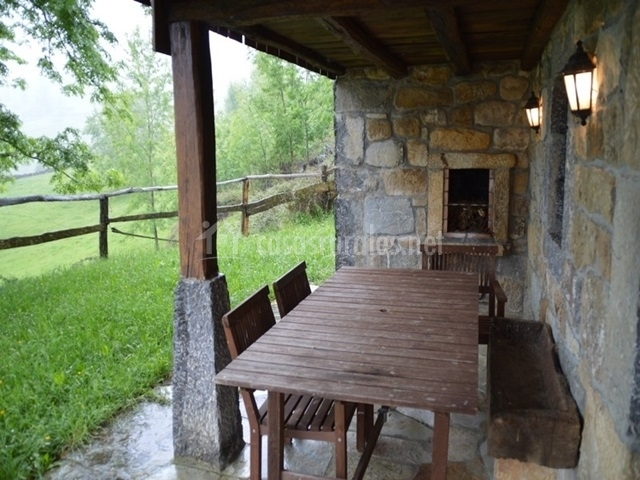 Mesa de porche