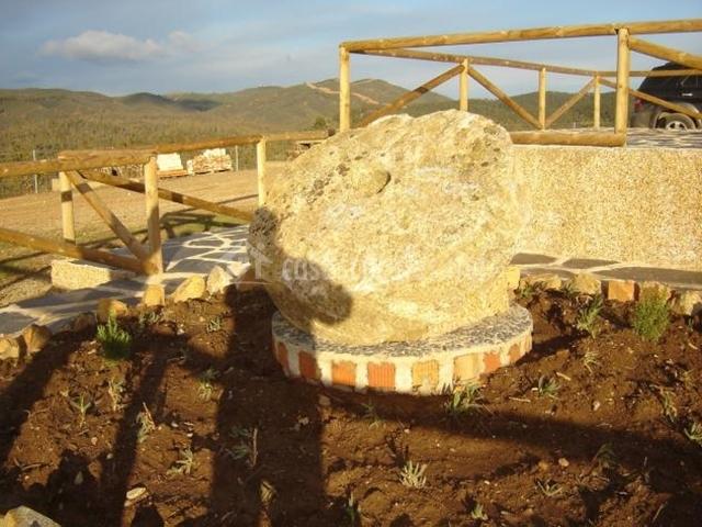Piedra para moler trigo