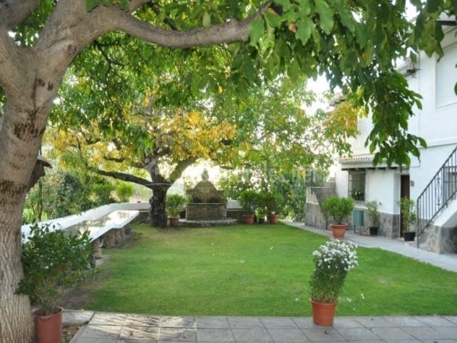 Vistas de los jardines con fuente
