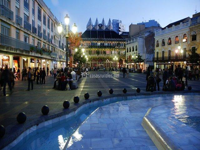 Plaza Mayor de Ciudad Real por la noche