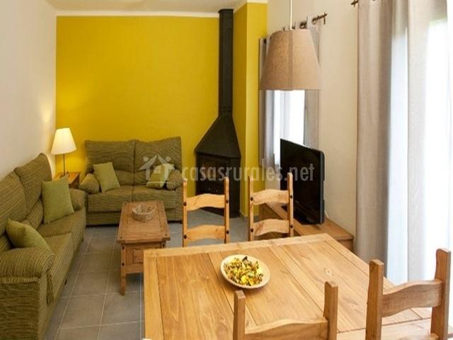 Sala de estar del apartamento para 4 personas