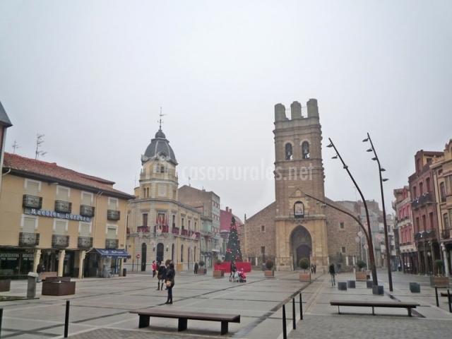 Plaza del ayuntamiento de La Bañeza