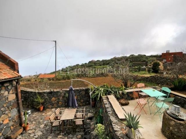 Vistas de la terraza y los equipamientos