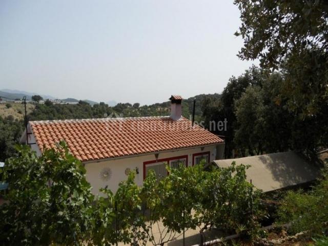 Vistas de la casa desde el exterior