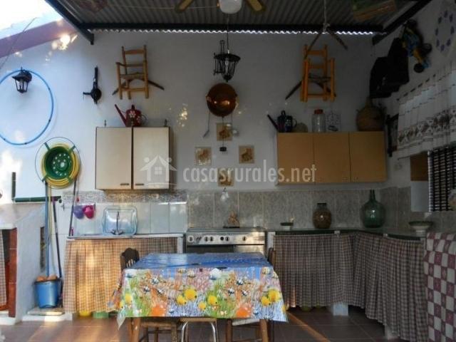 Vistas de la cocina campera