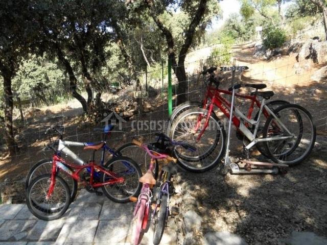 Vistas del conjunto de bicicletas