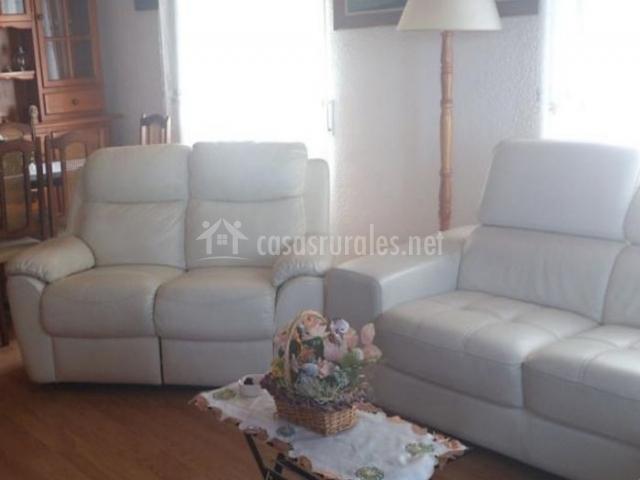 Sala de estar y sillones de cuero