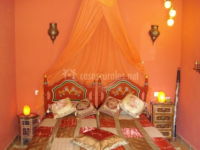 Dormitorio de estilo árabe