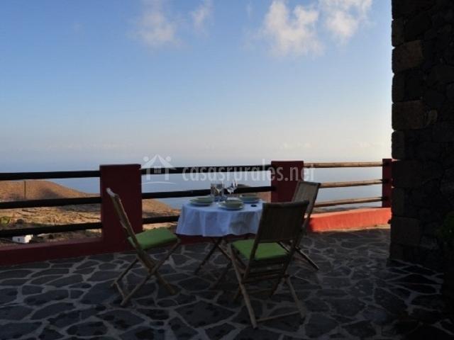 La terracita con vistas al mar