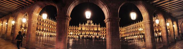 Plaza Mayor desde el soportal