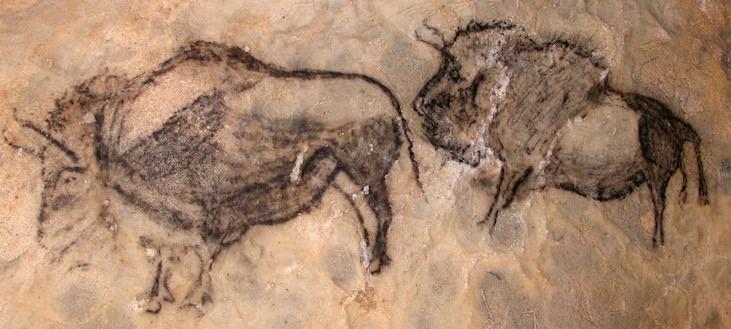 Bisontes en Cueva de Santimamiñe