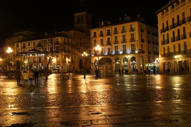 Plaza Mayor por la noche
