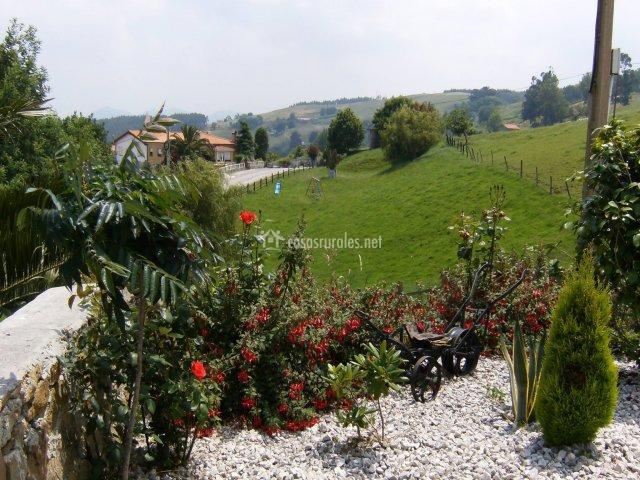 Jardín con plantas (Casasrurales.net)