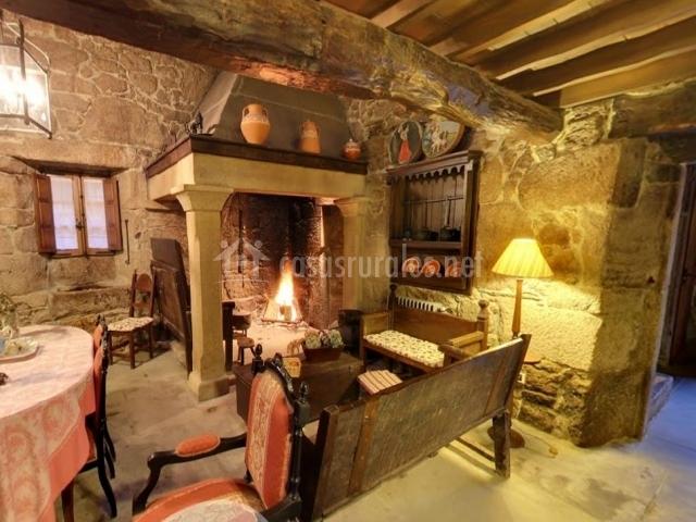 fabulous saln con chimenea with salones rusticos con chimenea - Salones Rusticos Con Chimenea