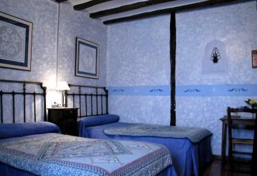 Bluish double bedroom
