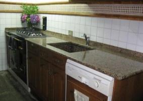 Horno y lavavajillas en la cocina