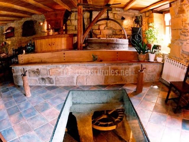 Molino restaurado en el txoko