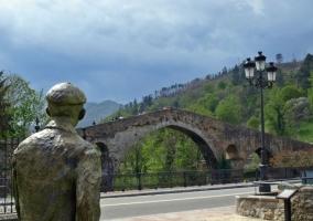 Zona del puente de Cangas
