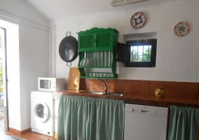 Cocina y lavadora