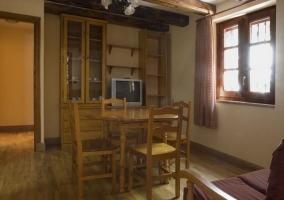 Salón del apartamento con 3 dormitorios