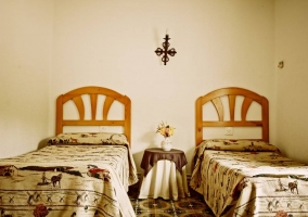 Dormitorio doble de la casa