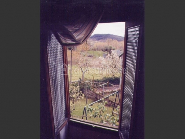Vistas al jardín privado