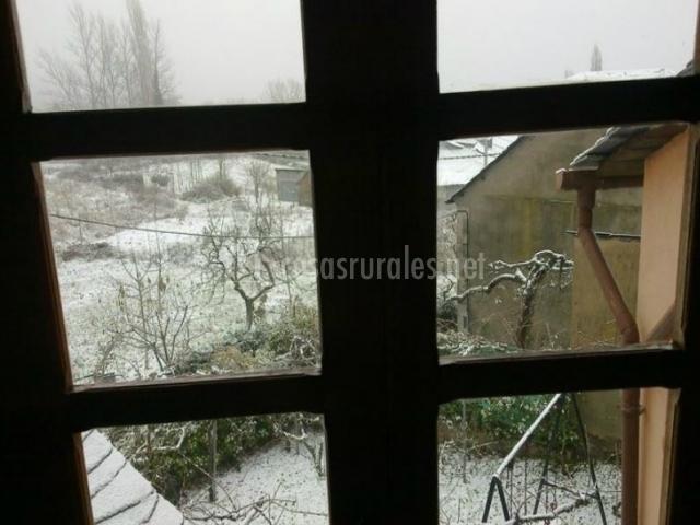 Vistas al patio nevado