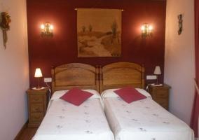 Habitación con camas individuale