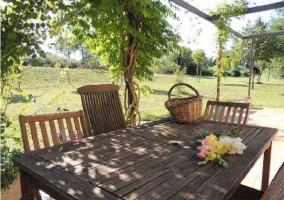 Mesas y sillas de la terraza