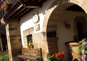 Balcones en la fachada principal
