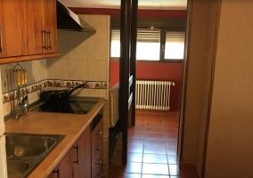Cocina y la sala de estar