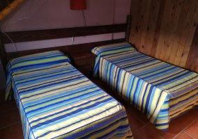 Habitación con camas de 90