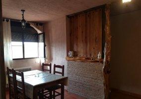 Salón cocina del Apartamento  3