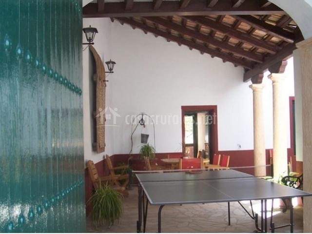 Porche con mesa de Ping pong