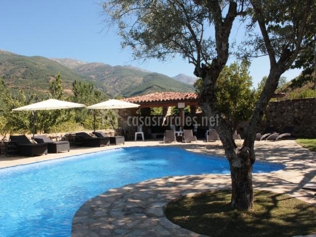 El cerezal de los sotos en jerte c ceres for Casas rurales en caceres con piscina