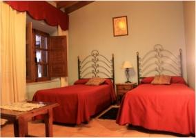 Dormitorio de matrimonio de la casa rural.