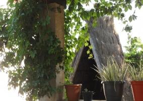 Cabaña india de paja